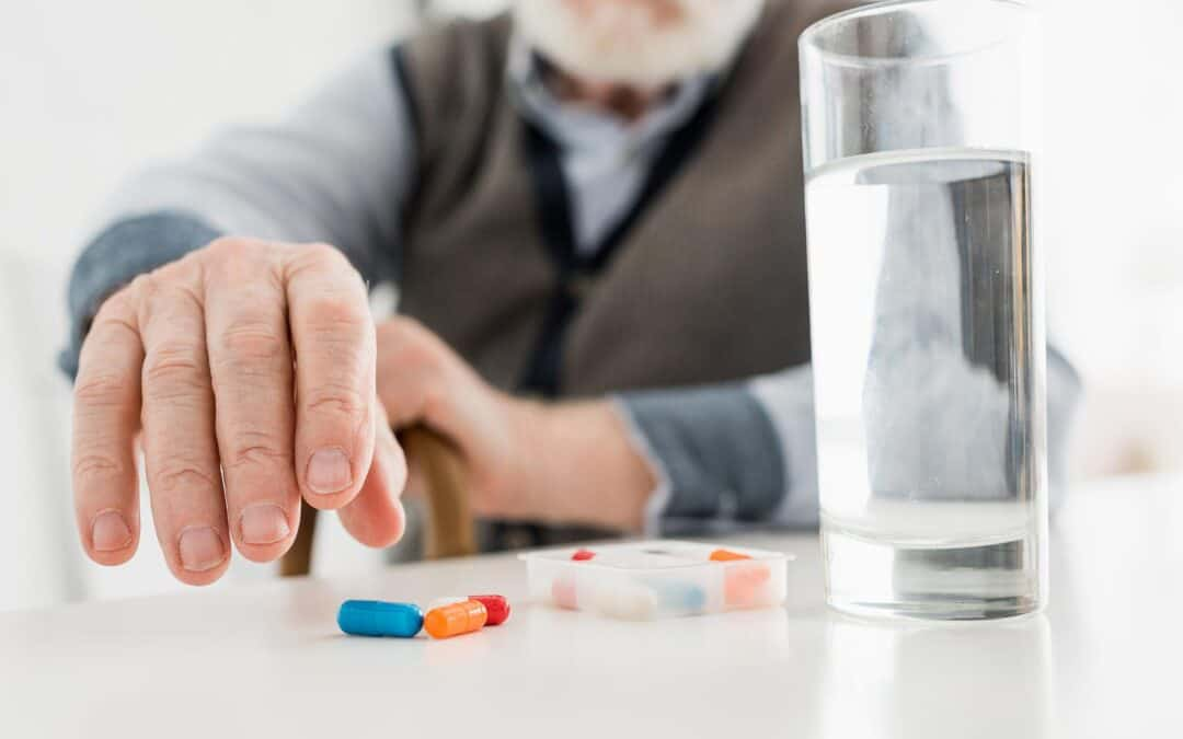 Alzheimer's Patient Taking Medication